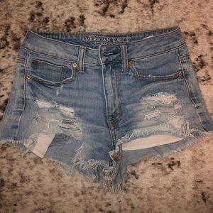 Hi-Rise AE Denim Shorts